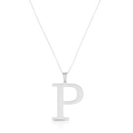 Celebrytka stal - literka P silver Xuping - CP3710