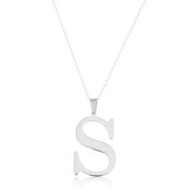 Celebrytka stal - literka S silver Xuping - CP3713
