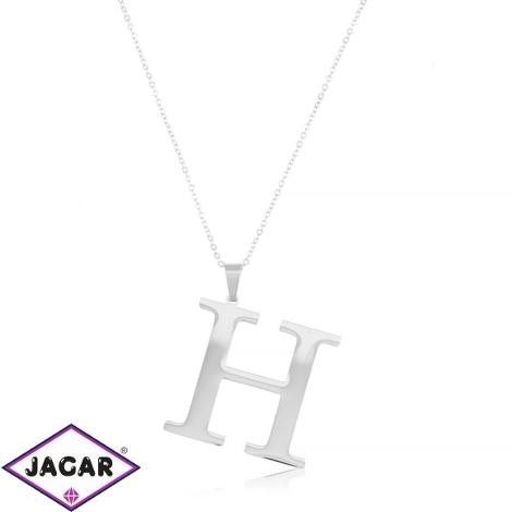 Celebrytka stal - literka H silver Xuping - CP3693