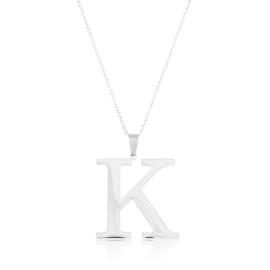 Celebrytka stal - literka K silver Xuping - CP3700