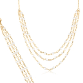 Komplet biżuterii z perełkami - Xuping PK527