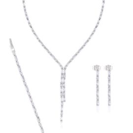 Komplet biżuterii ślubnej - Xuping - SKO81