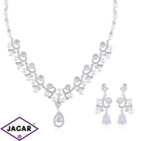 Komplet biżuterii ślubnej z perłami Xuping - SKO84