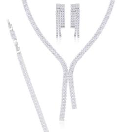 Komplet biżuterii ślubnej Xuping - SKO99