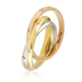 Pierścionek potrójna obrączka - Xuping PP2777