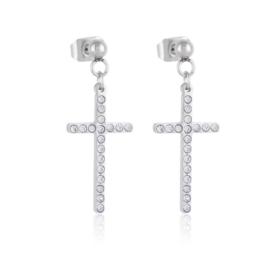 Kolczyki stal - krzyżyki - Xuping EAP14124