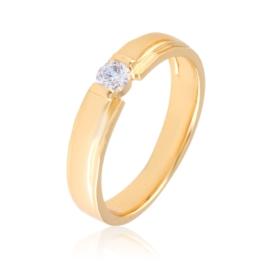 Pierścionek obrączka z kryształkiem Xuping PP2780