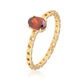 Pierścionek z czerwonym oczkiem - Xuping PP2784