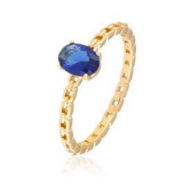 Pierścionek z niebieskim oczkiem - Xuping PP2785