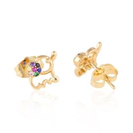 Kolczyki sztyfty z kryształkami Xuping EAP14685