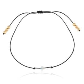 Bransoletka sznurek z kryształkiem Xuping BP7375