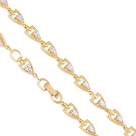 Bransoletka codzienna z kryształkami Xuping BP7406