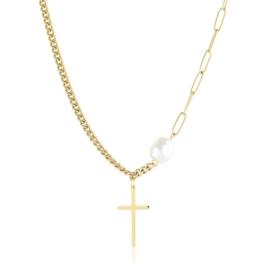 Celebrytka krzyżyki z perłą - Xuping CP4625