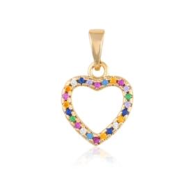 Przywieszka kolorowe serce - Xuping PRZ2687