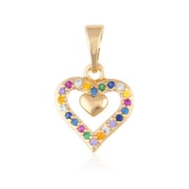 Przywieszka kolorowe serce - Xuping PRZ2688