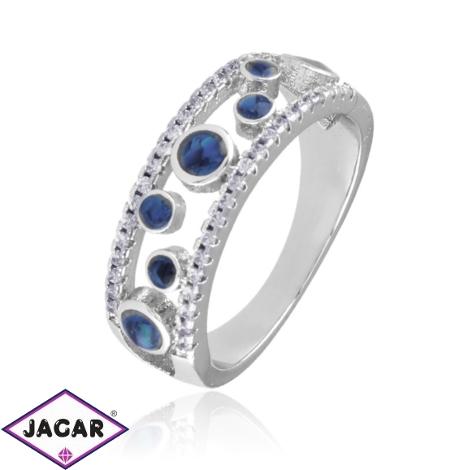 Pierścionek z niebieskimi oczkami - Xuping PP2947
