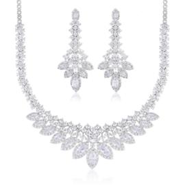 Komplet biżuterii ślubnej Xuping - SKO102