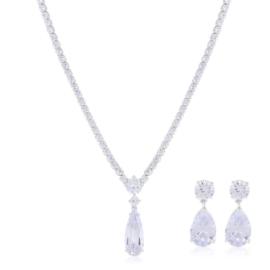Komplet biżuterii ślubnej Xuping - SKO107
