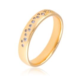 Obrączka z kryształkami Xuping PP3078