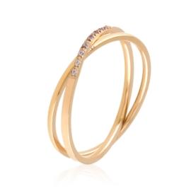 Pierścionek stal rose gold Xuping PP3085