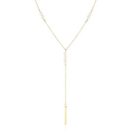 Celebrytka stal krawatka z perłami Xuping CP5501