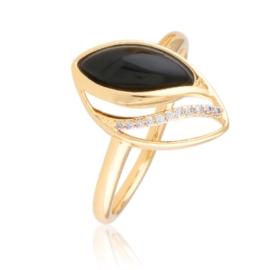 Pierścionek z czarnym oczkiem - Xuping PP2763