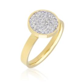 Pierścionek stal z kryształkami Xuping PP3107