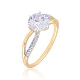 Pierścionek z kryształkami Xuping PP3604