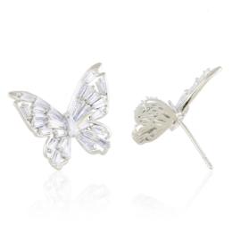 Kolczyki stalowe sztyfty motylki EAP19325