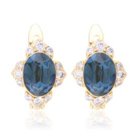 Kolczyki codzienne crystal blue Xuping EAP20385